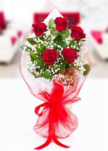 5 Gül Buketi Gaziantep Çiçek Sepeti Siparişi