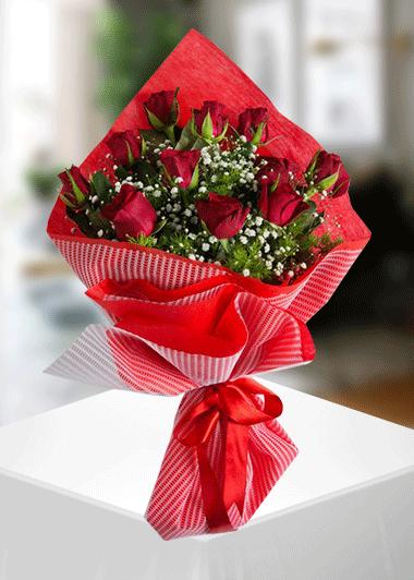 Gaziantep Çiçek 11 Kırmızı Gül Buketi Gaziantep Çiçekciler