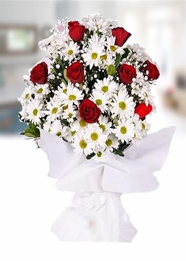 Papatya ve Gül-7 Gaziantep Çiçek Sepeti Siparişi