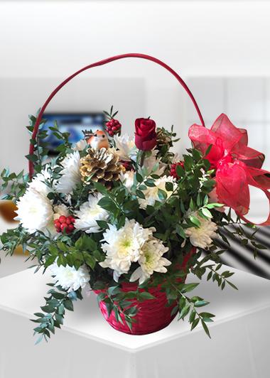 Yeni Yıl Çiçek Sepeti Gaziantep Çiçekciler